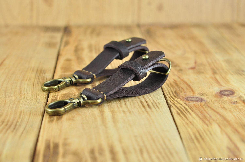 Кожаный брелок для ключей коричневого цвета, Брелок, Алексадровка,  Фото №1