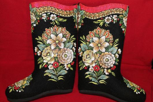 Обувь ручной работы. Ярмарка Мастеров - ручная работа. Купить МОЛОДУШКА. Handmade. Черный, орнаменты, подарок, Бижутерия