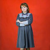 Одежда handmade. Livemaster - original item Boho dress made of knitwear two-tone