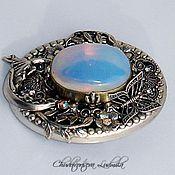 Украшения handmade. Livemaster - original item vintage brooch handmade from the Selena with opal and crystals. Handmade.