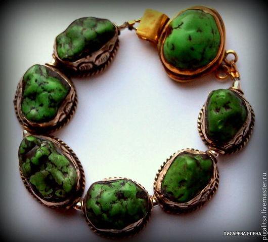 """Браслеты ручной работы. Ярмарка Мастеров - ручная работа. Купить браслет """"Старый Тибет"""". Handmade. Зеленый, этника"""