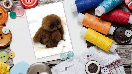 """Куклы и игрушки ручной работы. Ярмарка Мастеров - ручная работа. Купить Набор для создания Кролика-Тедди+выкройка+Мини-МК """"Оживление Тедди"""". Handmade."""