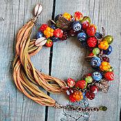 """Украшения ручной работы. Ярмарка Мастеров - ручная работа Колье """"Wild berry"""". Handmade."""