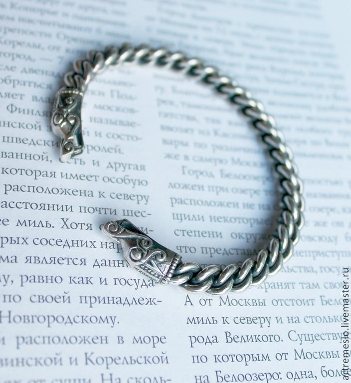 Купить браслет викинга серебро