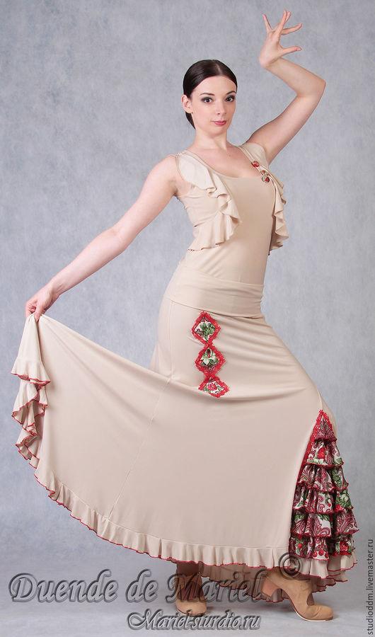 Юбка `Три ромба` из дизайнерской коллекции 2013г. `Русский взгляд на фламенко`.
