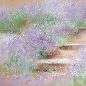 Картины и панно handmade. Livemaster - original item Purple grass. Handmade.