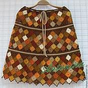 Одежда ручной работы. Ярмарка Мастеров - ручная работа Юбка из мелких квадратных мотивов. Handmade.