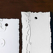 Материалы для творчества ручной работы. Ярмарка Мастеров - ручная работа бирка-тег с тиснением. Handmade.