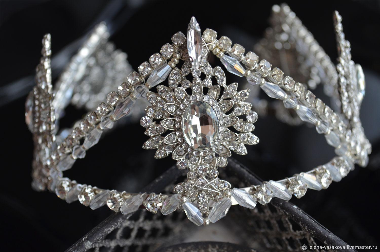 """Свадебные украшения ручной работы. Ярмарка Мастеров - ручная работа. Купить Свадебная корона """"Руфина"""". Handmade. Корона, cdflt"""