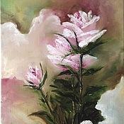 """Картины и панно ручной работы. Ярмарка Мастеров - ручная работа картина  """"Абстрактные розы"""". Handmade."""