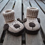 Работы для детей, handmade. Livemaster - original item Dog booties for newborn babies from Merino wool warm booties. Handmade.
