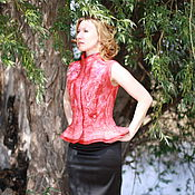 """Одежда ручной работы. Ярмарка Мастеров - ручная работа Жилет валяный """"Романтика"""". Handmade."""