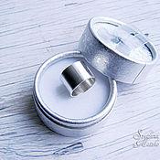 Украшения ручной работы. Ярмарка Мастеров - ручная работа Широкое кольцо из серебра в стиле Минимализм. Handmade.