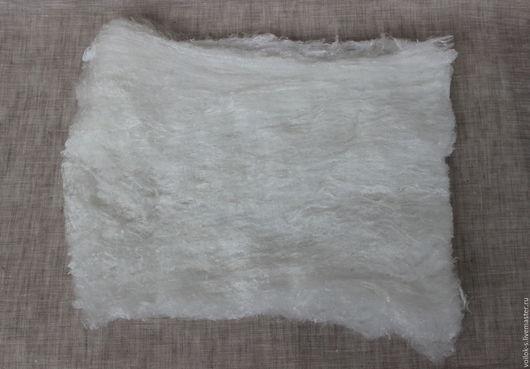 Валяние ручной работы. Ярмарка Мастеров - ручная работа. Купить Шелковое полотно малберри (лепс, одеяло). Handmade. Белый