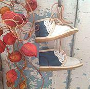 Винтаж ручной работы. Ярмарка Мастеров - ручная работа Ботиночки детские винтажные. Handmade.