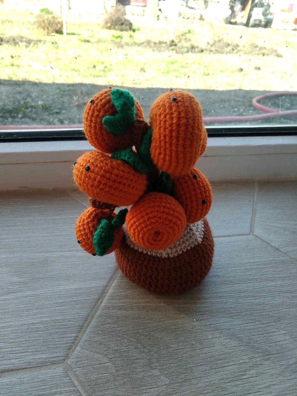 Мандариновое дерево, вязаная игрушка, Мягкие игрушки, Краснодар,  Фото №1