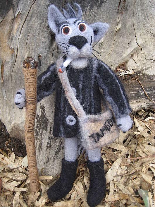 Тамбовский волк. Волк выполнен в технике валяния из тонкорунной шерсти.