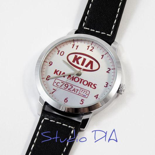 Часы KIA С Номером. Студия Дизайнерских Часов DIA.