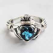 Украшения handmade. Livemaster - original item Silver ring with London topaz