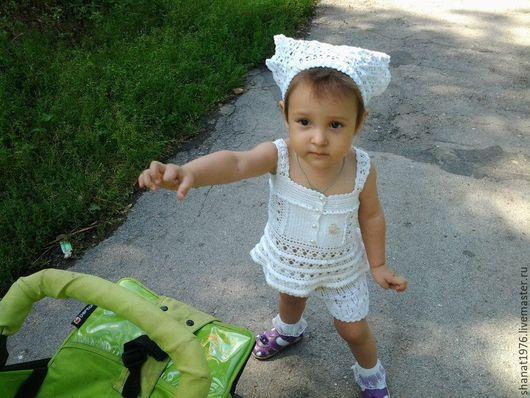 Одежда для девочек, ручной работы. Ярмарка Мастеров - ручная работа. Купить Топ детский. Handmade. Топ летний, ажурный узор