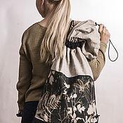"""Сумки и аксессуары ручной работы. Ярмарка Мастеров - ручная работа рюкзак в стиле """"вещмешок"""" с авторской фотограммой. Handmade."""