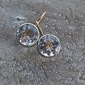 Украшения handmade. Livemaster - original item Rhinestone earrings, silver and goldfield. Handmade.