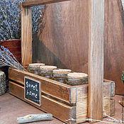 """Для дома и интерьера ручной работы. Ярмарка Мастеров - ручная работа Набор для специй """"Sweet home"""" (сибирский кедр,стекло). Handmade."""