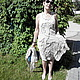 Платья ручной работы. Платье безрукавное с шалью из вареного льна. Реелика (reelika44). Ярмарка Мастеров. Летнее платье, натуральные материалы