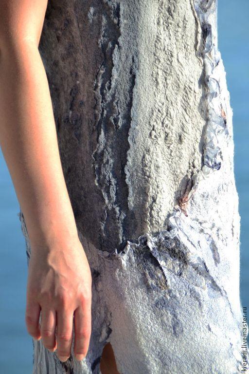 """Платья ручной работы. Ярмарка Мастеров - ручная работа. Купить Валяное летнее платье """"GRETTA"""". Handmade. Цветочный, нуно-фелтинг"""