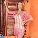 """Пляжные платья ручной работы. Ярмарка Мастеров - ручная работа. Купить Туника """"Сны"""". Handmade. Розовый, хлопок 100%"""