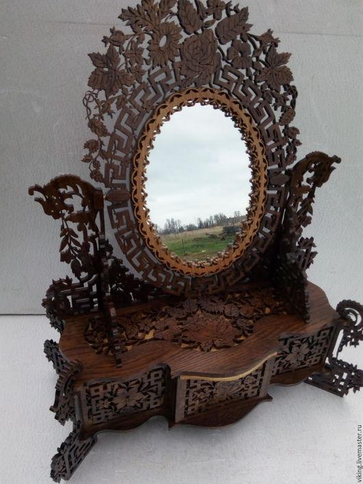 "Зеркала ручной работы. Ярмарка Мастеров - ручная работа. Купить Зеркало ""French Mirror"" (SS). Handmade. Шкатулка с зеркалом, розы"