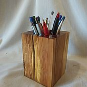 Карандашницы ручной работы. Ярмарка Мастеров - ручная работа Карандашницы: деревянная карандашница. Карандашница из дерева. Handmade.