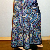 Одежда handmade. Livemaster - original item Skirt to the floor of the Pavlovo-Posad shawl