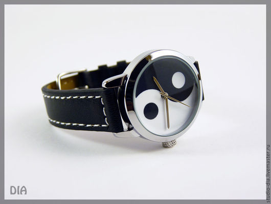 Часы. Наручные Часы. Оригинальные Дизайнерские Часы Инь Ян. Студия Дизайнерских Часов DIA.