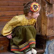 Одежда handmade. Livemaster - original item Costume in Russian style for girls. Handmade.