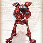 Куклы и игрушки ручной работы. Ярмарка Мастеров - ручная работа Пёсик  :) Гороховая собачка длинноножка :). Handmade.