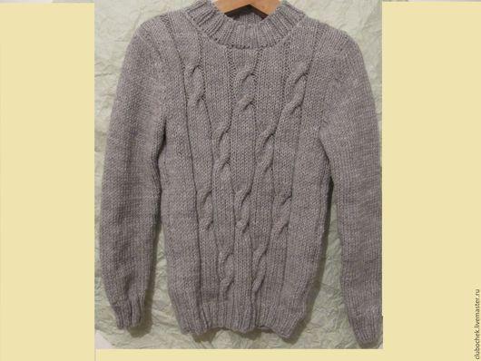 Кофты и свитера ручной работы. Ярмарка Мастеров - ручная работа. Купить Свитер детский. Handmade. Серый, свитер вязаный
