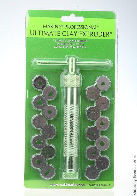 Профессиональный экструдер для полимерной глины от Makins, 20 дисков