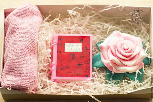 """Мыло ручной работы. Ярмарка Мастеров - ручная работа. Купить Набор """"Книголюб"""". Handmade. Розовый, подарок на день рождения, книга"""