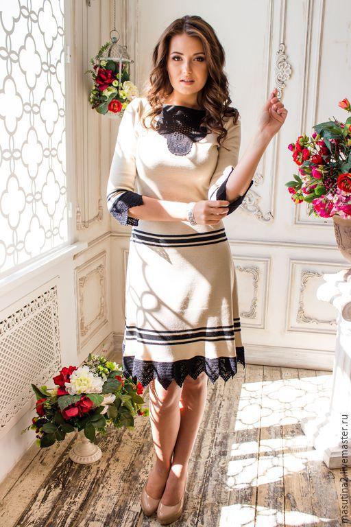 """Платья ручной работы. Ярмарка Мастеров - ручная работа. Купить Платье """"Кейти"""". Handmade. Бежевый, купить платье, кружево"""
