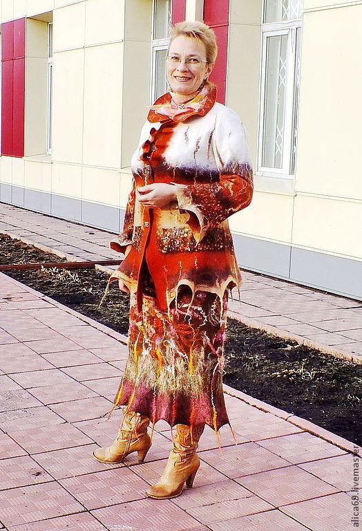 Юбки ручной работы. Ярмарка Мастеров - ручная работа. Купить валяная юбка из шерсти ...Весна  в сердце твоем. Handmade. Коричневый