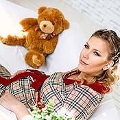 Одежда ручной работы. Ярмарка Мастеров - ручная работа Платье для беременной из костюмной шерсти Барберри. Handmade.