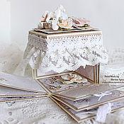 Канцелярские товары ручной работы. Ярмарка Мастеров - ручная работа Magic box Миниальбом Маленькая принцесса. Handmade.