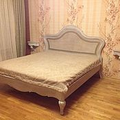 Для дома и интерьера handmade. Livemaster - original item 89. Bed in solid walnut with rattan. Handmade.