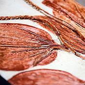 """Картины и панно ручной работы. Ярмарка Мастеров - ручная работа Подорожник терракотовый. Серия """"Старый лечебник"""".. Handmade."""