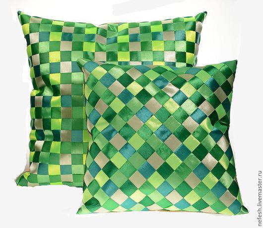 Текстиль, ковры ручной работы. Ярмарка Мастеров - ручная работа. Купить Декоративная подушка Интерьерная подушка Зеленый купить в подарок. Handmade.