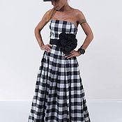 Одежда ручной работы. Ярмарка Мастеров - ручная работа Женское платье Black White. Handmade.