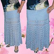 Одежда ручной работы. Ярмарка Мастеров - ручная работа Юбка в пол льняная большой размер. Handmade.