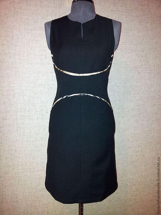 Платья ручной работы. Ярмарка Мастеров - ручная работа. Купить Повседневное платье. Handmade. Черный, платье для офиса, шерсть