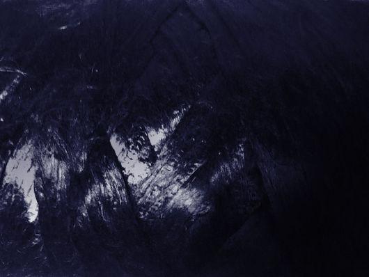 """Валяние ручной работы. Ярмарка Мастеров - ручная работа. Купить 50 г Вискоза в гребенной ленте. Цвет мультиклор """"Синий графит"""". Handmade."""